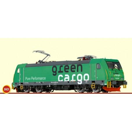 """Brawa 43967 Ellok klass RE 1428 Traxx """"Green Cargo"""", med digitaldekoder"""