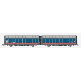 Hobby Trade 35003 Dubbelvagn 45 74 GC 438 1 076-9 Laaeilprs940 röd/blått utförande