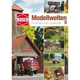 """Busch 999815 Landskapskatalog med byggtips """"Feuerwehr und Landschaft"""""""