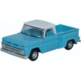 Oxford Models 120884 Chevrolet Stepside Pick Up 1965 Light Blue/White