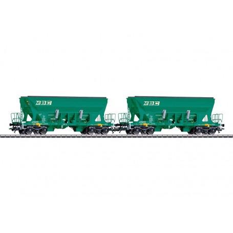 """Märklin 45806 Vagnsset med 2 bulktransportvagnar Faccns """"MBC"""""""