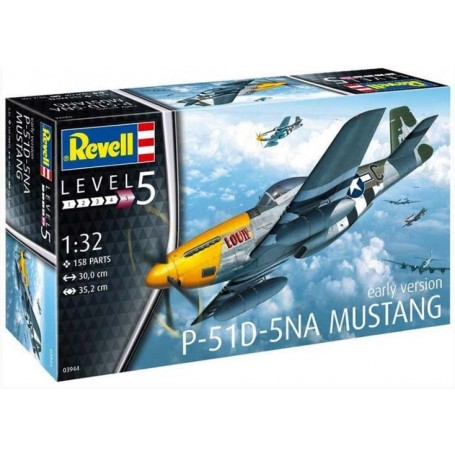 """Revell 03944 Flygplan P-51D-5NA Mustang """"Early Version"""""""