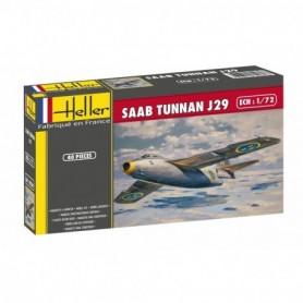 """Heller 50260 Flygplan SAAB Tunnan J29 """"Gift Set"""""""