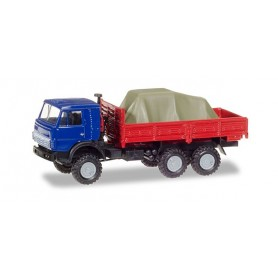 Herpa 307635 KamAZ 4310 Pick-up truck with load under the canvas