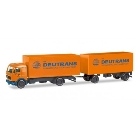 "Herpa 308137 Mercedes-Benz box trailer ""Deutrans"""