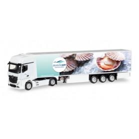"""Herpa 308205 Mercedes-Benz Actros Gigaspace refrigerated semitrailer """"Deutsche See"""""""