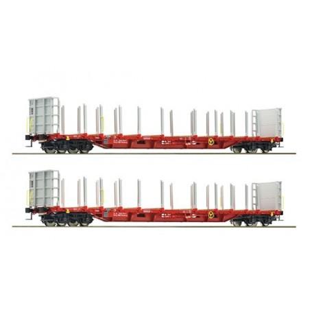 "Roco 76141 Vagnsset med 2 stolpvagnar ""Rail Cargo Austria"""