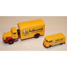 """Brekina 99252 Set med VW T1b och Scania L 110 """"Frukt och Mat - Fyffes"""""""