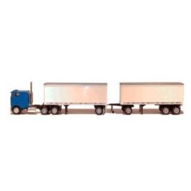Promotex 6329 Peterbilt 362E Coe 3 Axle and 27' Van A Train