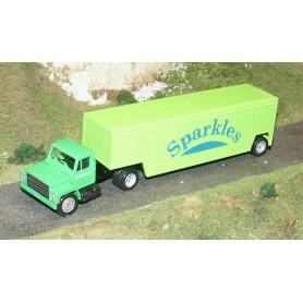 """Promotex 6137 IH USA Dragbil med skåptrailer """"Sparkles"""""""