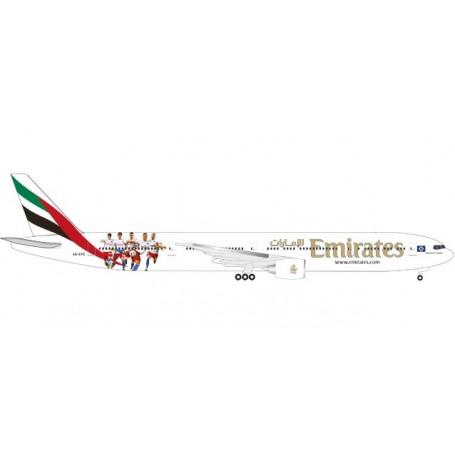 "Herpa 530880 Flygplan Emirates Boeing 777-300ER ""Hamburger SV"" - A6-EPS"
