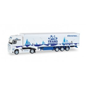 "Herpa 066709 Mercedes Benz Actros Gigaspace box semitrailer ""Trio-Trans"""