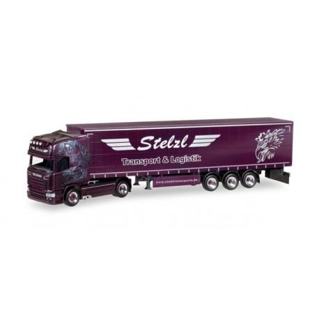 "Herpa 307987 Scania R TL curtain canvas semitrailer ""Stelzl"""