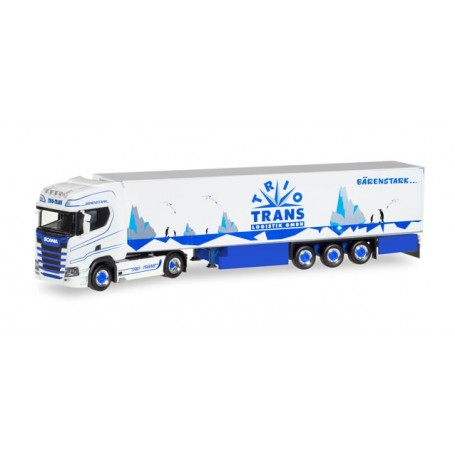 "Herpa 308052 Scania CS20 HD refrigerated semitrailer ""Trio-Trans"""