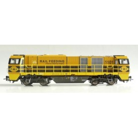 "B Models 3012.01 Diesellok ""Rail Feeding"""" klass G2000, driftnummer 1101 Alpha Trains"