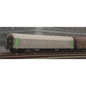 """B Models 45636DC Set med 2 vagnar typ Rils """"Green Cargo"""" med gul ratt"""