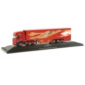 "Herpa 121279 Scania R TL refrigeated box semitrailer ""AR Freight"", PC-Box (S)"