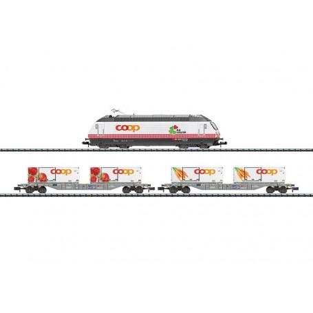"""Trix 11638 Tågset typ SBB/CFF/FFS """"Coop"""""""