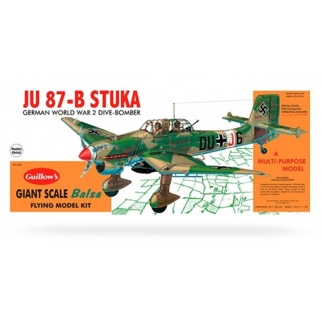 Guillows 1002 Flygplan Junkers Ju 87-B Stuka 3/4, byggsats i trä