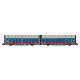 Hobby Trade 35004 Dubbelvagn 45 74 GC 438 1 006-6 Laaeilprs940 röd/blått utförande