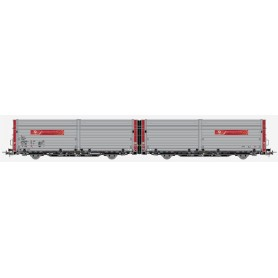 """Hobby Trade 35035 Dubbelvagn 43 76 N-ATS 438 0 406-9 Laaeilprs081 """"Auto Transport Service AS"""""""
