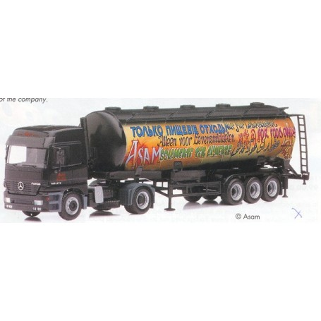 "Herpa 189408 MB Actros L med tanktrailer ""Food International"""