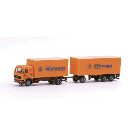 "Herpa 148047 MB box canvas trailer ""Deutrans"""