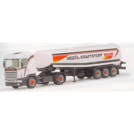"Herpa 145046 Scania 124 med tanktrailer ""Wahr"""