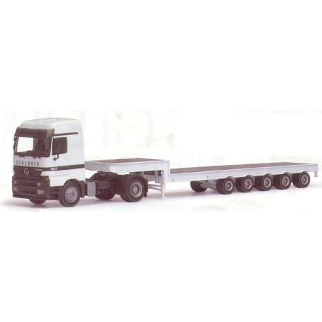 "Herpa 187718 MB Actros LH med tungtransporttrailer ""Schenker Eurocargo"""