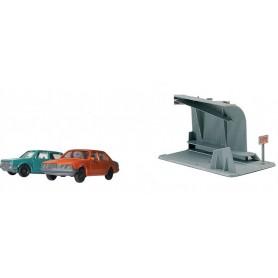 Fleischmann 00023 Två personbilar och en fartkontroll