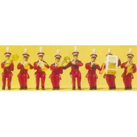 Preiser 20259 Sittande circus orkester, 8 st