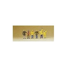 Preiser 88537 Arbetare med skyddskläder, 6 st