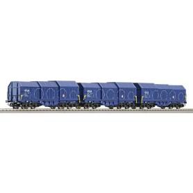Roco 66112 Godsvagnsset med 3 st teleskopvagnar typ NS