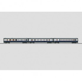 """Märklin 43118 Personvagnsset med 3 st vagnar utbyggnad för 37608 """"Blue Star Train"""""""
