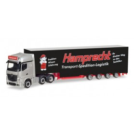 "Herpa 308250 Mercedes-Benz Actros Gigaspace 6x2 Meusburger semitrailer ""Hamprecht"""