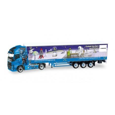 """Herpa 307741 Volvo FH Gl. XL curtain canvas semitrailer """"Schreglmann"""""""