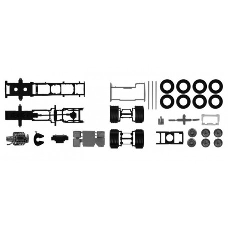 Herpa 084796 Chassis for Scania CS/CR 6x2 with chassis cladding Content: 2 pcs.