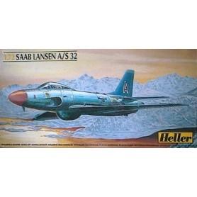 Heller 80343 Flygplan SAAB Lansen A/S 32 med svenska dekaler