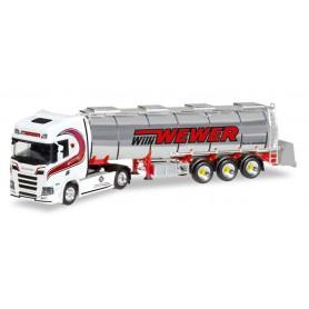 "Herpa 308427 Scania CR HD chrome tank semitrailer ""Willi Wewer"""