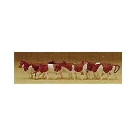 Preiser 79155 Kossor, brun/vita, 6 st