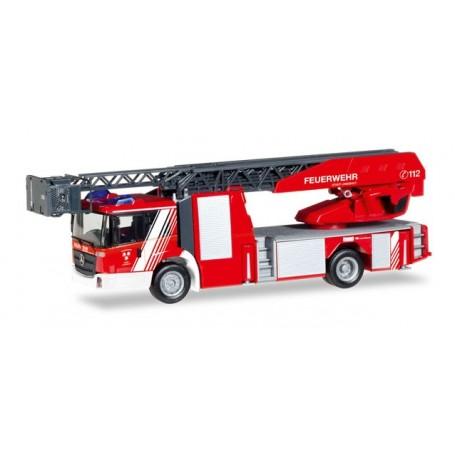 """Herpa 093521 Mercedes-Benz Econic turnable ladder truck """"Feuerwehr Landshut"""""""