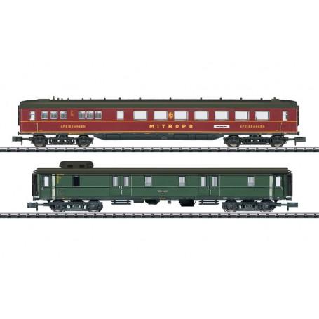 "Trix 15801 Vagnsset med 2 personvagnar typ DRB ""Berlin - Hamburg"""