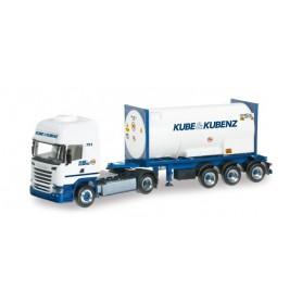 "Herpa 303927 Scania R 2013 TL gas container semitrailer ""Kube & Kubenz"""