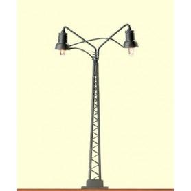 Brawa 4011 Bangårdslampa, dubbelarm, 1 st, höjd 70 mm