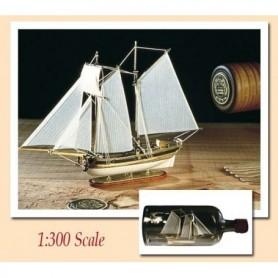 "Amati 1355 Flaskskepp ""Hannah"" American Schooner 1775 Georg Washington Naval Squadron"