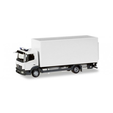 Herpa 013239 Herpa MiniKit: Mercedes-Benz Atego box truck with liftgate, silver