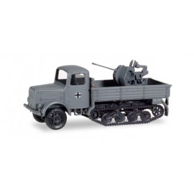 Herpa 746120 Magirus 3000 S mulish with 37mm flak, Germany 1942