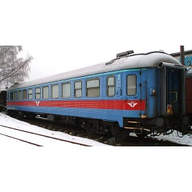 NMJ 204501 Personvagn SJ B1KT 5114, 2:a klass, Inter-Regio färger.
