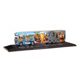 """Herpa 121774 DAF XF SSC refrigerated box trailer """"Herpa Weltgeschichte Nr. 15, Die Geschichte des Bieres"""""""