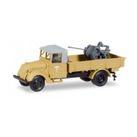 "Herpa 746106 Ford 997 T cabine with canvas and 37mm flak ""Deutsche Afrikakorps von Rommel"""